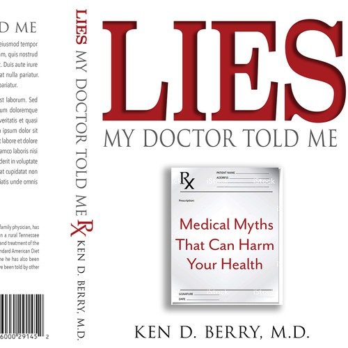 Professional cover for a medical book