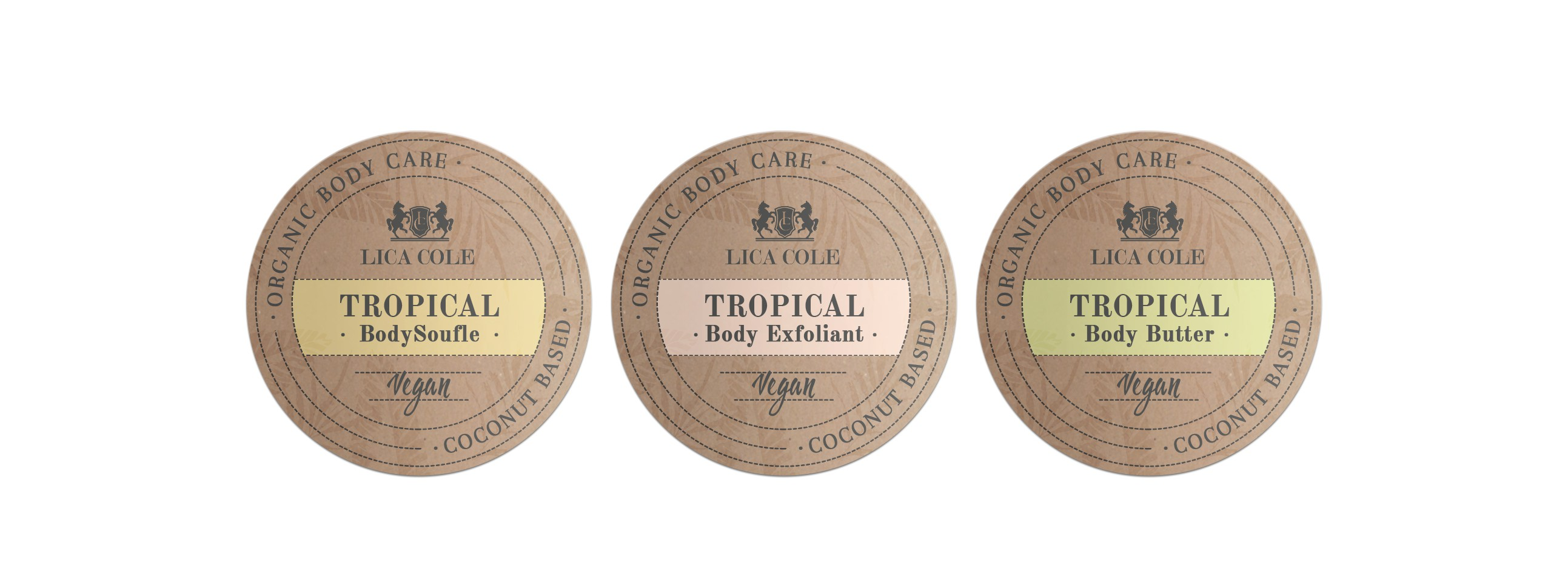 Luxury and Eco Label and Box Design for Coconut Based Body Product