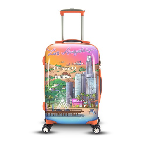 Los Angeles Luggage Illustration - BITMAP