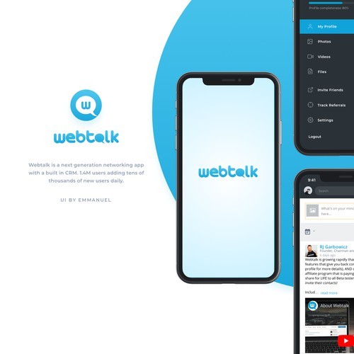 Mobile App Design for Webtalk