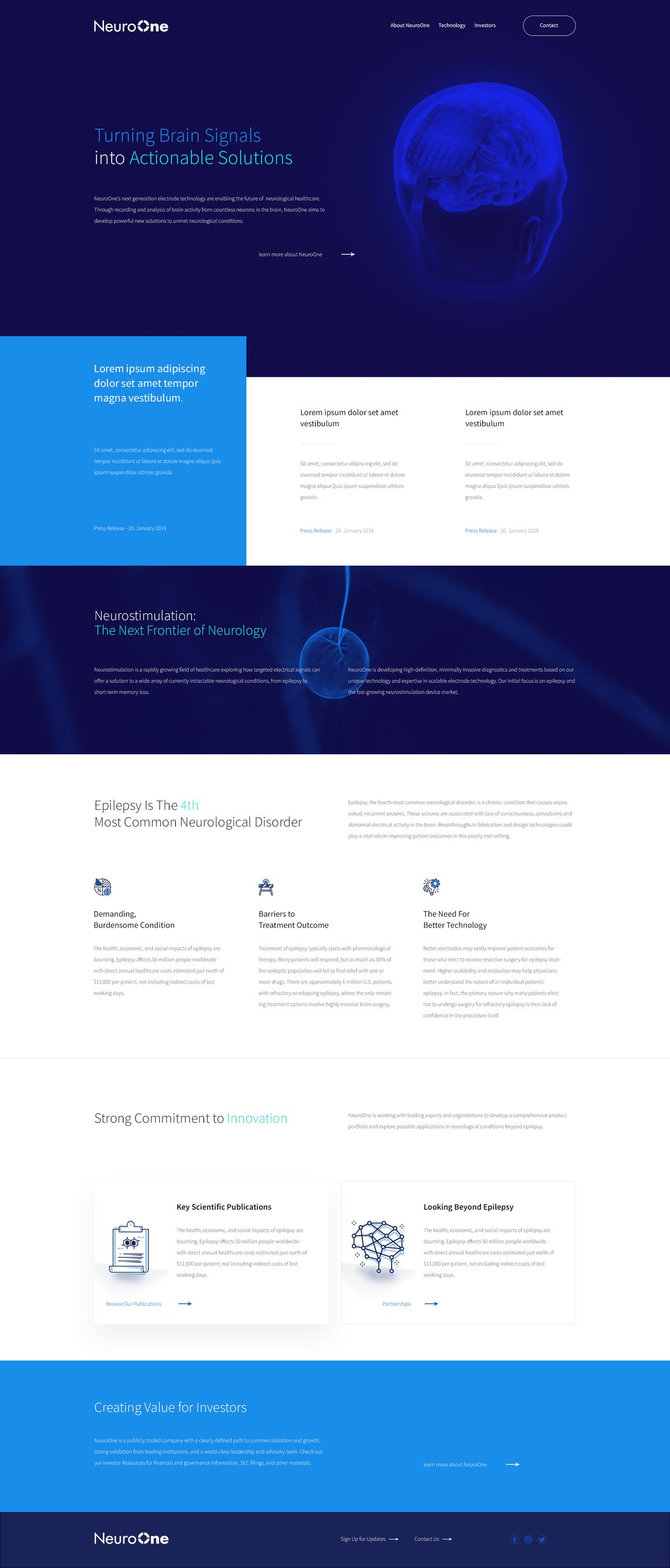 Brain Website Design