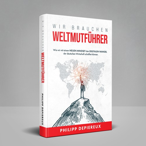 WELTMUTFÜHRER German Book cover design