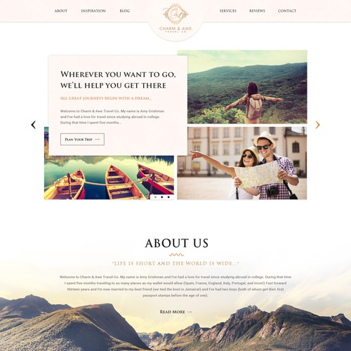 Travel Company Website Design