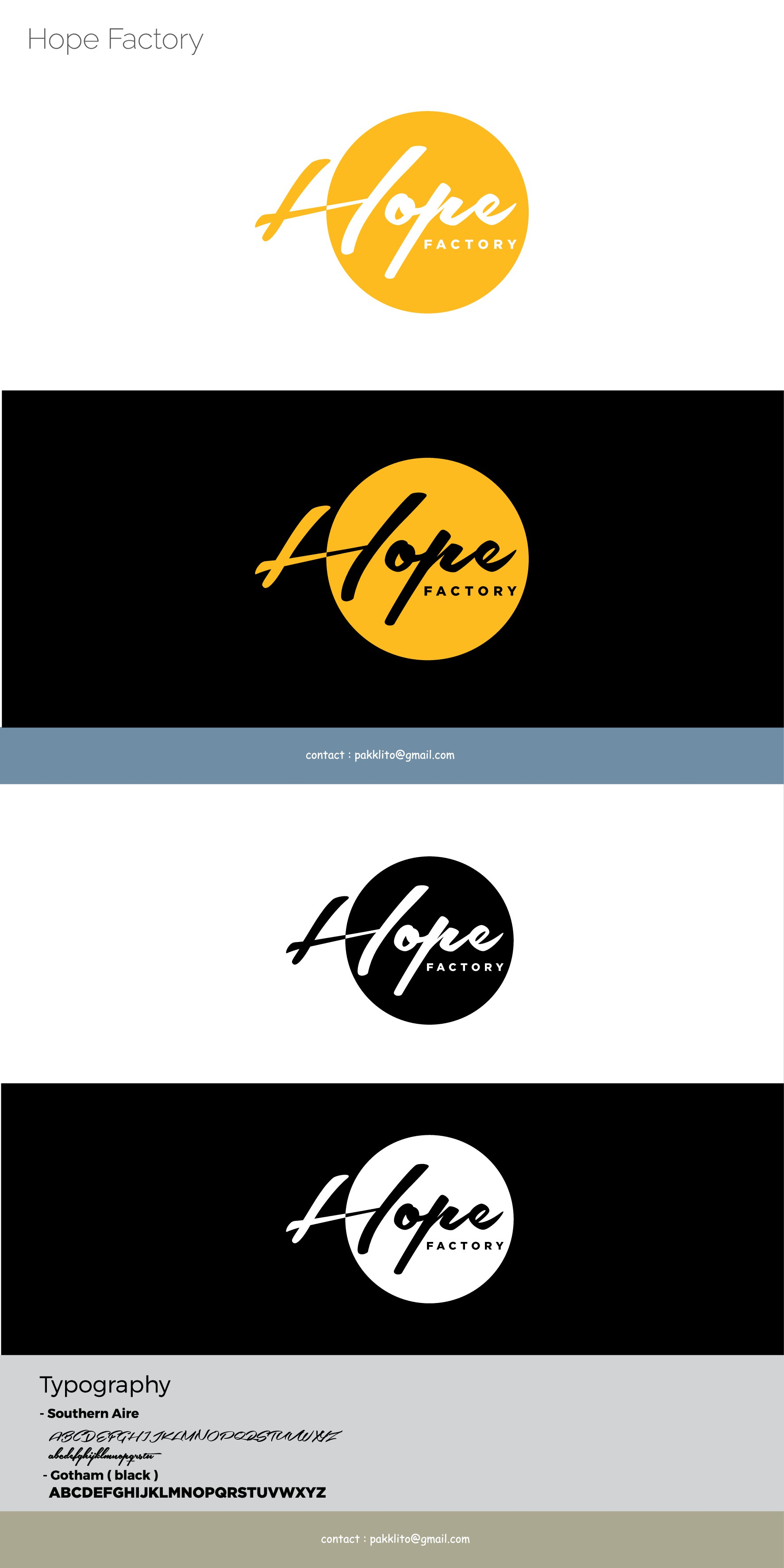 Hope Factory needs a new meaningful, modern logo