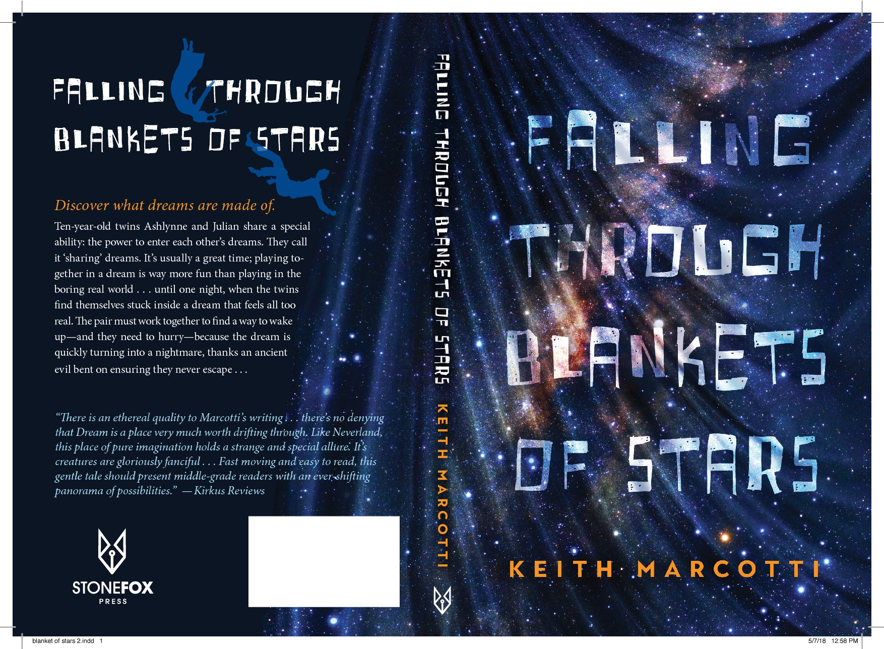 CREATE 'FALLING THROUGH BLANKETS OF STARS' (FICTION) BOOK COVER!!
