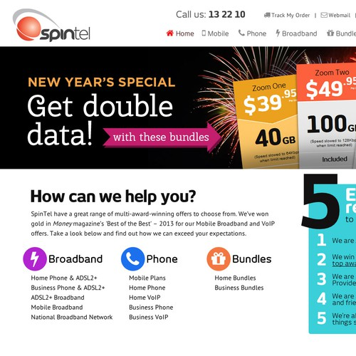 Create a web banner for SpinTel