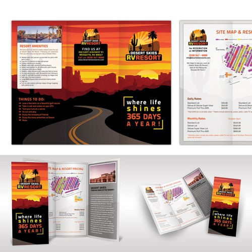 Brochure design for Desert Skies RV Resort