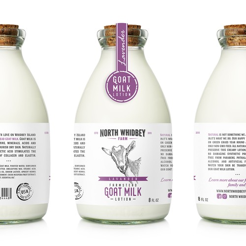 Label Natural Handcraft Goat Milk Lotion