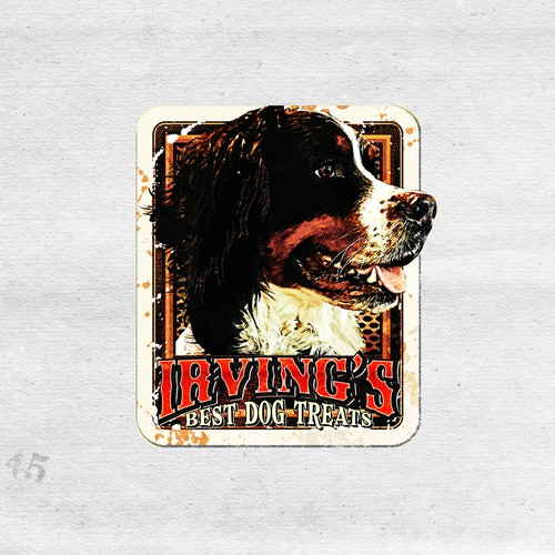 Bold logo concept for dog treats