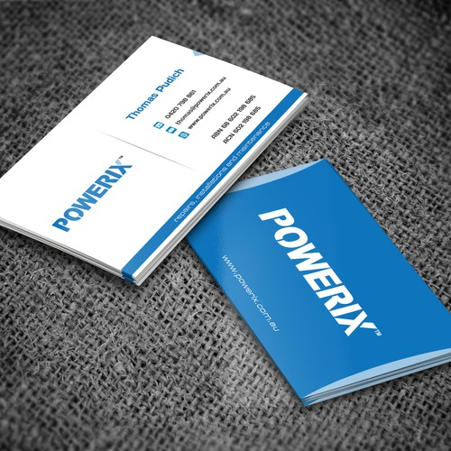 Create a clean style business card for a maintenance business