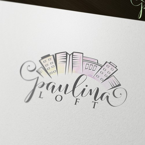 Cursive wedding logo