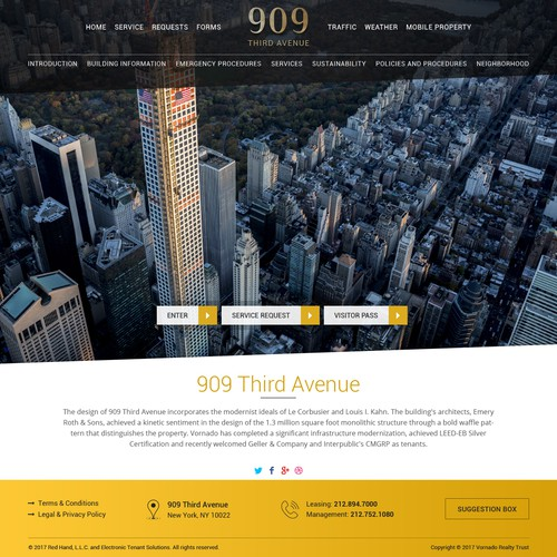 Premium luxury website for a Avenue