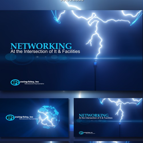 High Tech - High Energy Presentation Template for Digital Components Sales Firm