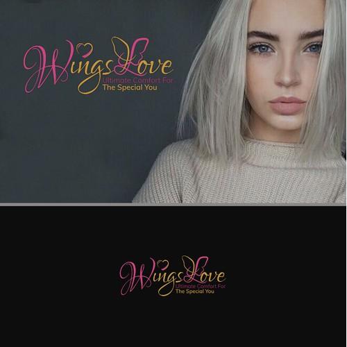 Logo design concept for Wings love