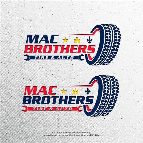 MacBrothers Tire & Auto logo designs