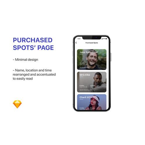 """App design for """"Paparazzi"""" app"""