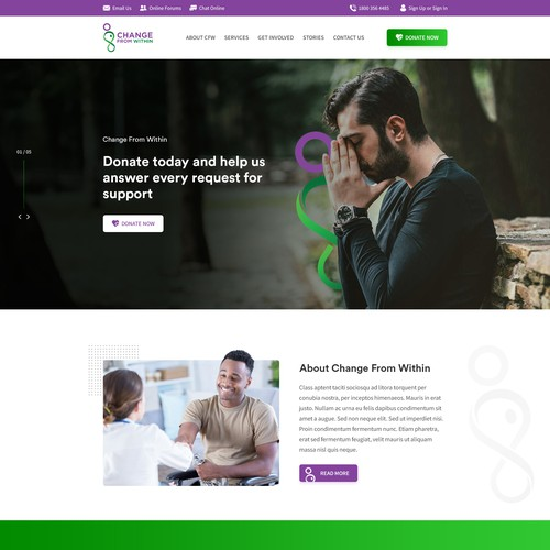 99nonprofits: Mental Health prevention without medication wants fresh looking website