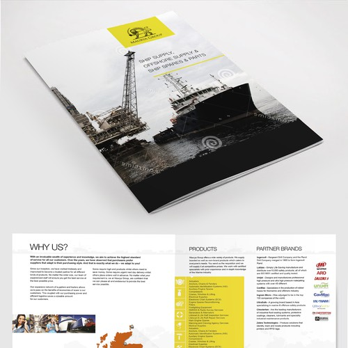 4 Page Brochure for Oil & Gas & Marine.