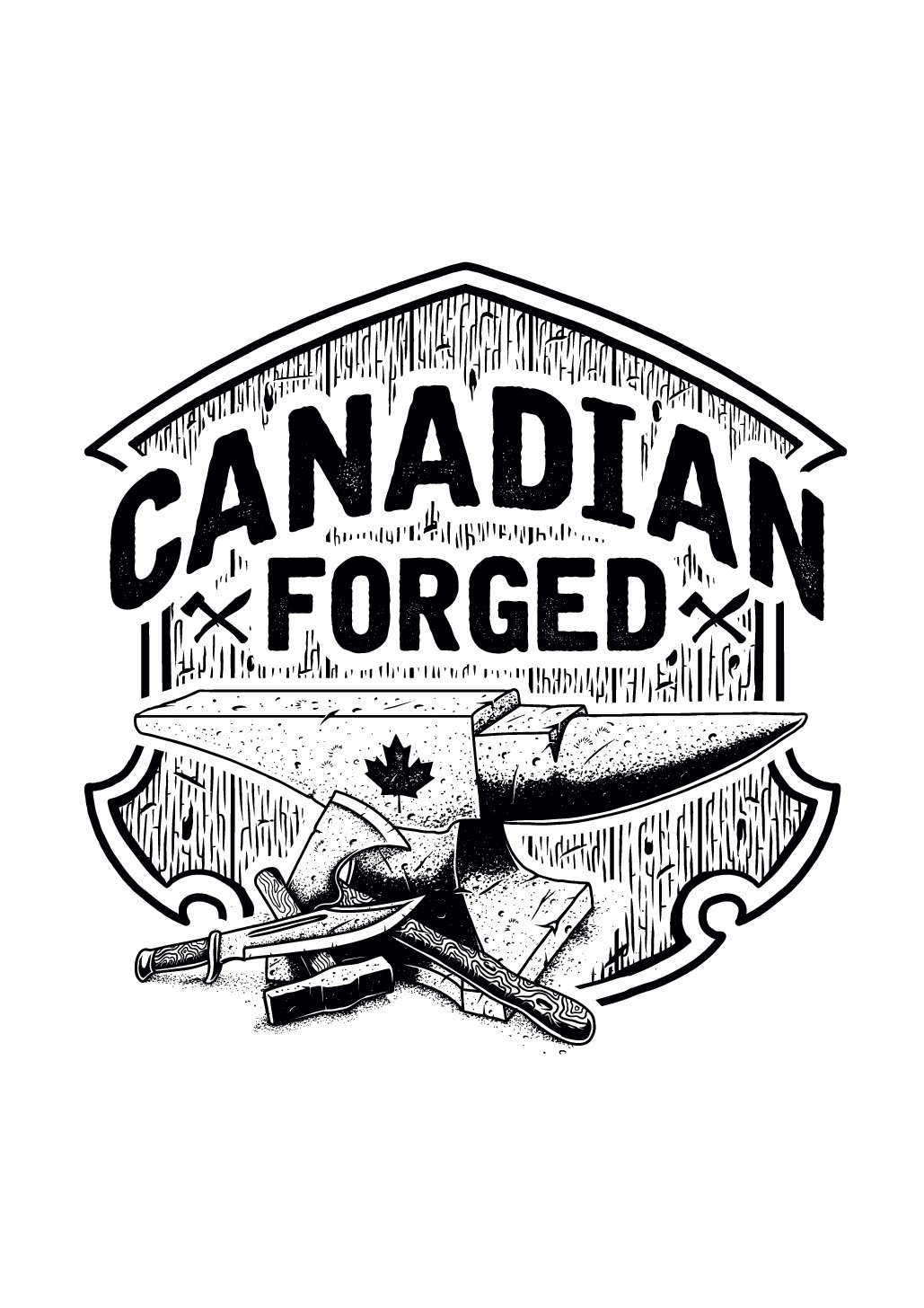A design to encompass canadian values and our beginnings of rugged explorers and a wild land