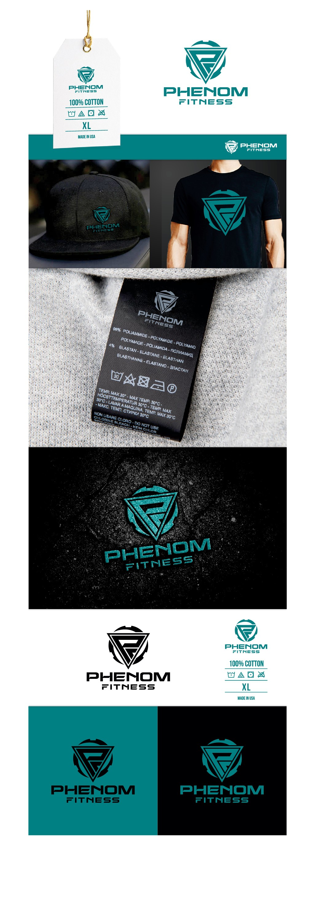 Design the logo for the Phenom Fitness apparel launch!