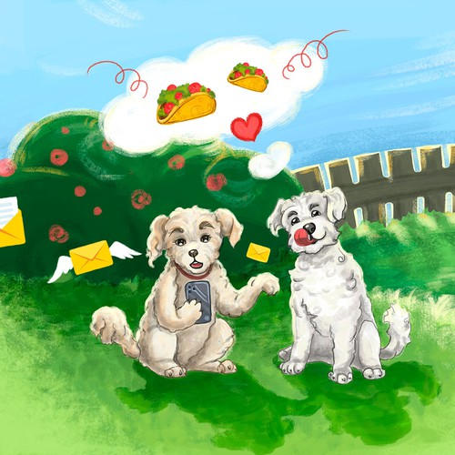 Illustration for a children's book.