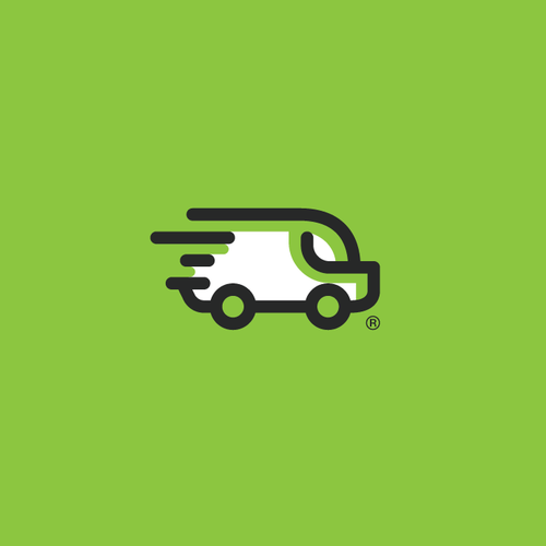Logo for youthful airport shuttle service