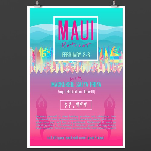 Maui Yoga Retreat Poster