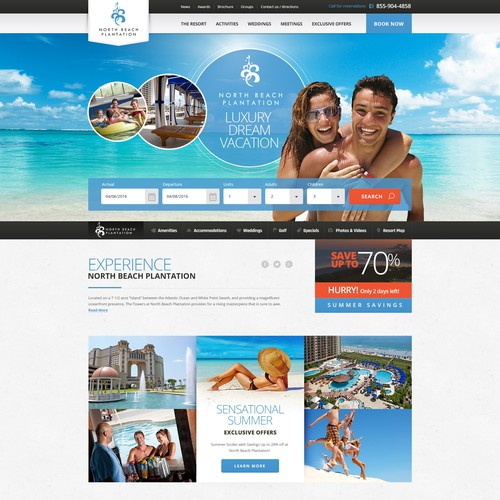 Luxury resort web design