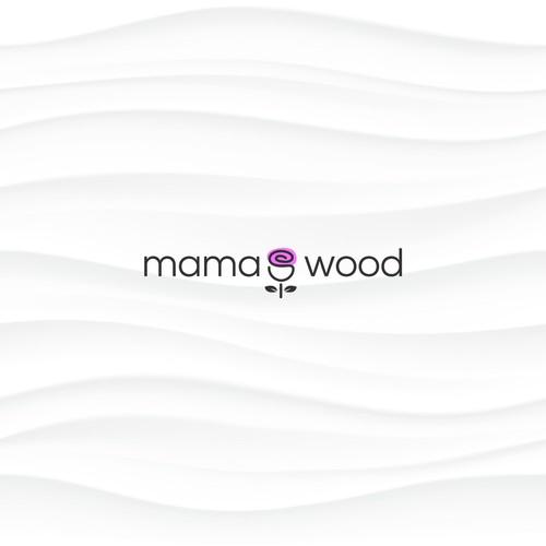mama's wood logo concept