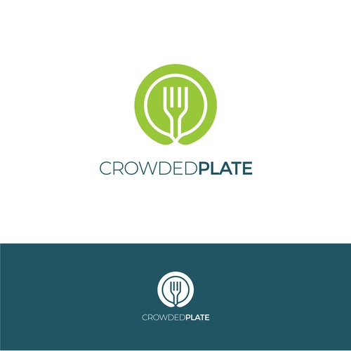 Modern Logo Concept for CrowdedPlate