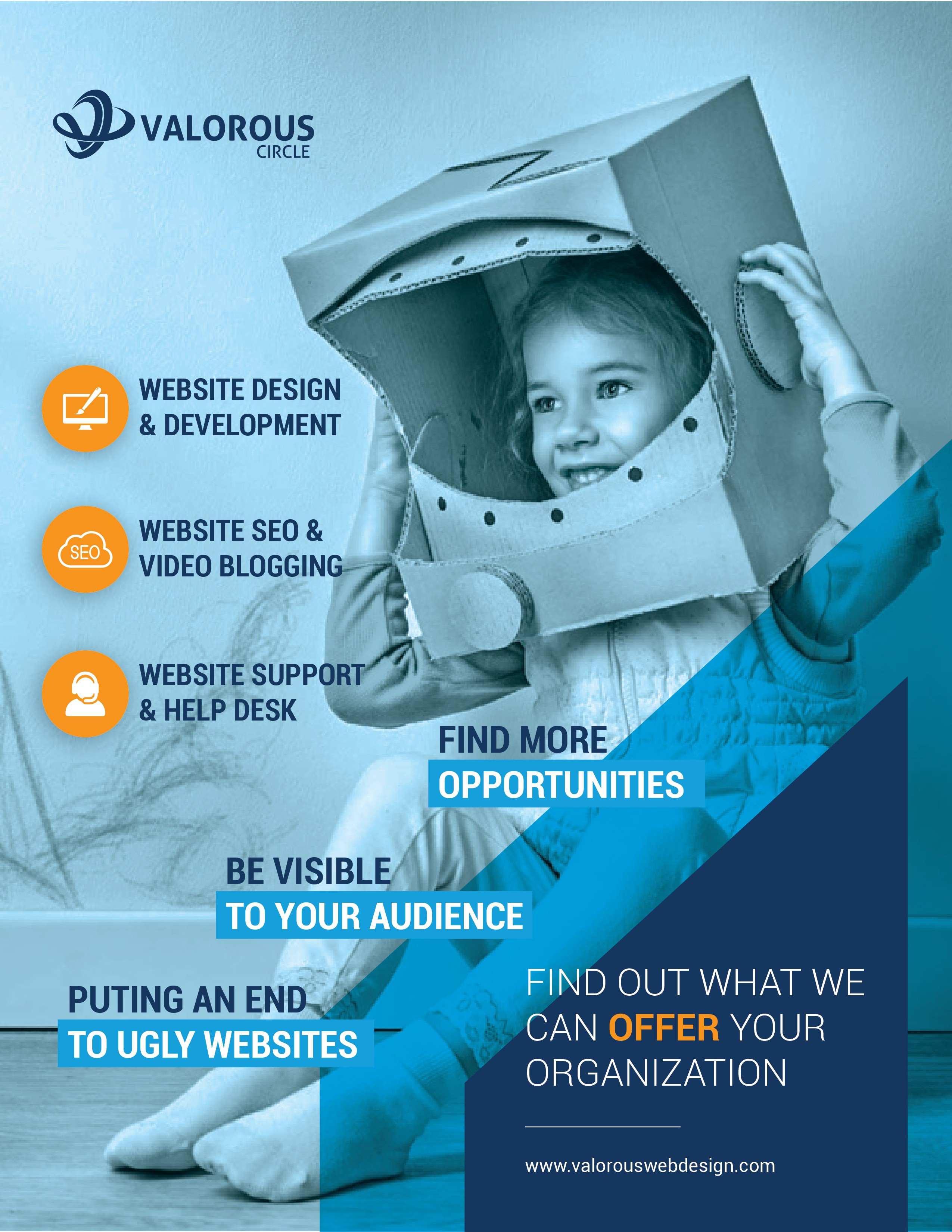 Design a compelling Marketing Flyer/Leave Behind for Web Design and SEO Firm