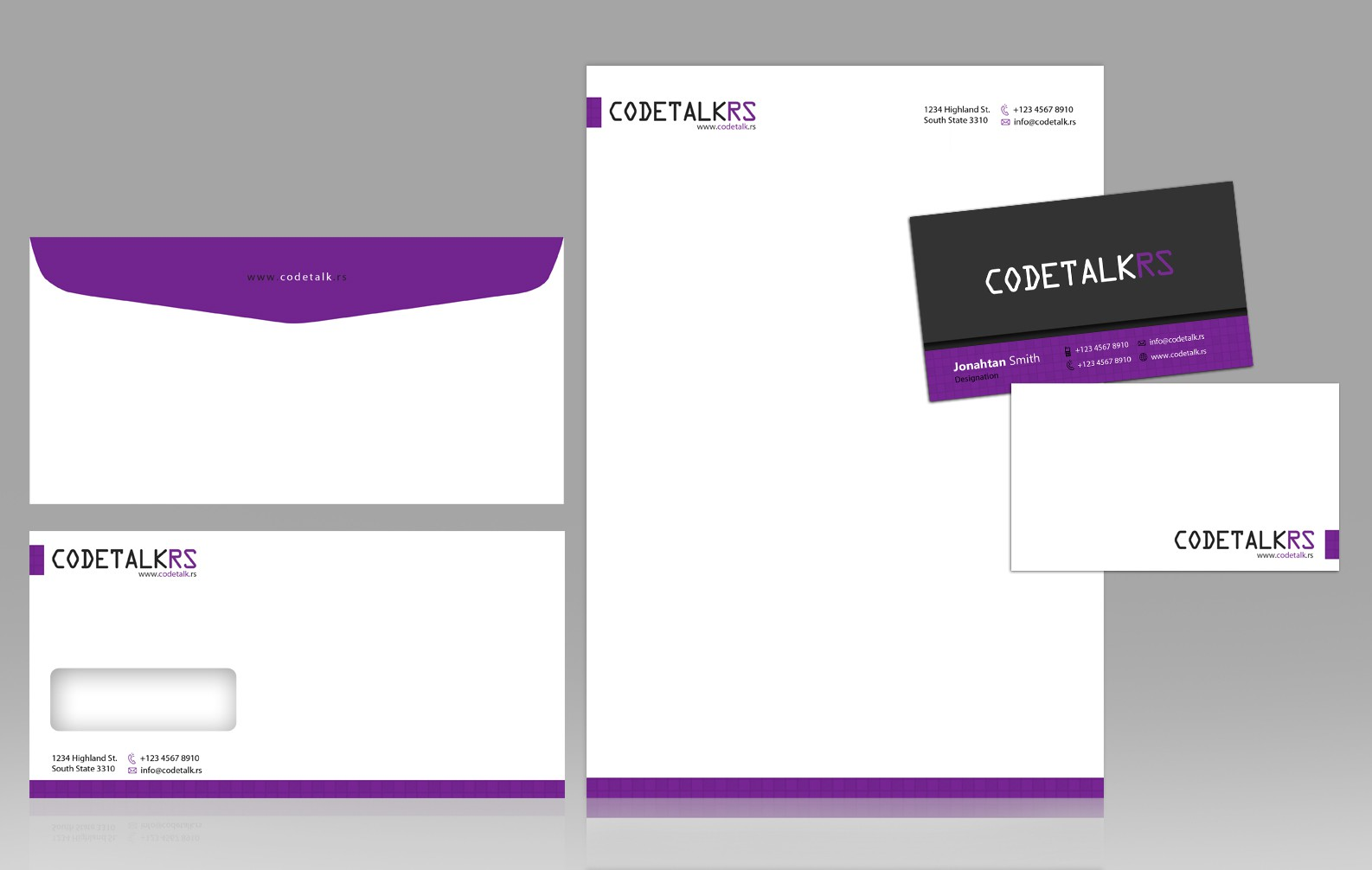 stationery for codetalk.rs, llc