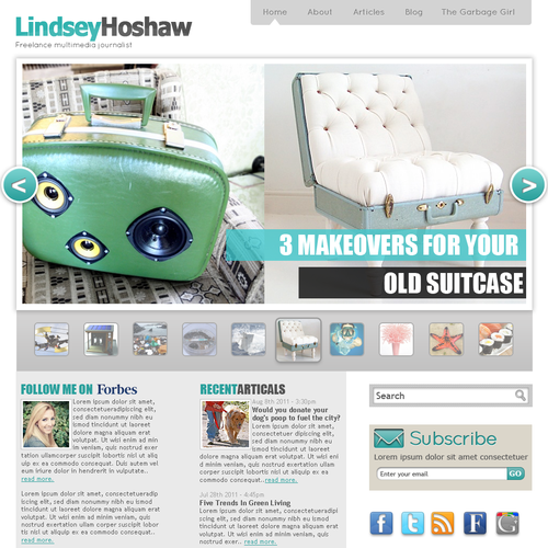 New website design wanted for Lindsey Hoshaw