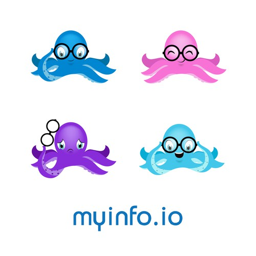 my info.io octopus mascot
