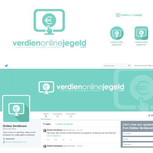 Create a stunning logo for verdienonlinejegeld.com