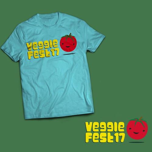 T-Shirt Design for Vegetarian Festival