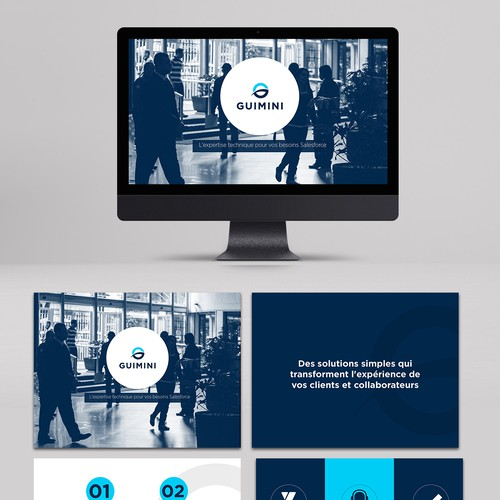 Semifinalist Powerpoint template for an IT Service Company
