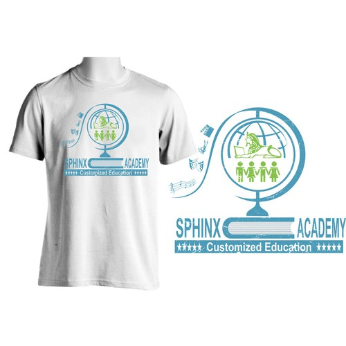 A t-shirt design for an innovative new school