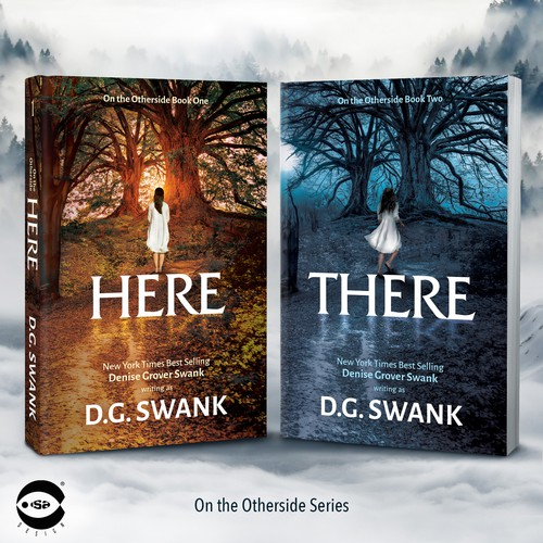"Book covers for ""Here"" and ""There"" by D.G.Swank"