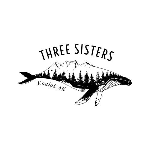 Logo concept for Alaska-based clothing brand