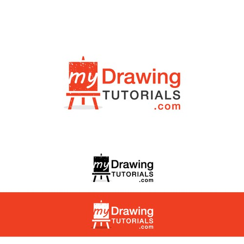 Create logo for Art website (MyDrawingTutorials.com)