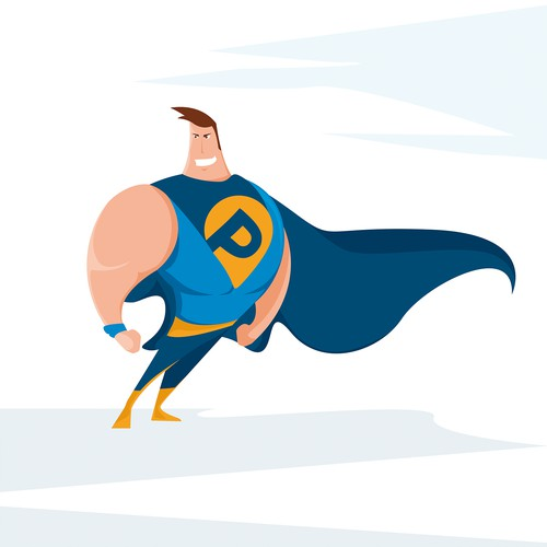 Super hero character design.