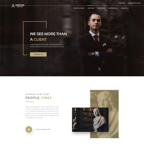 law website landing page