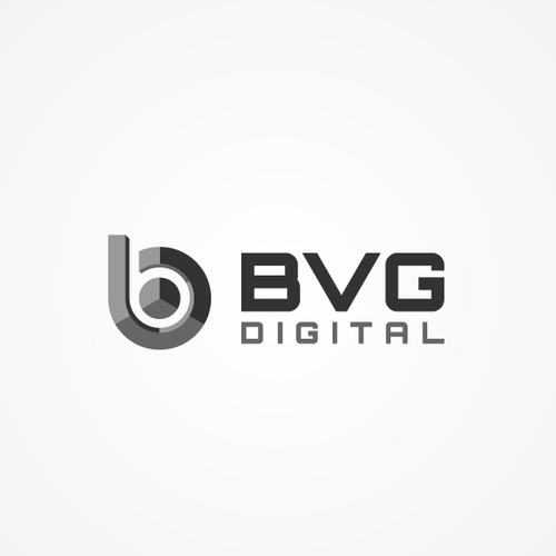 Abstract 3D logo for digital photography services company
