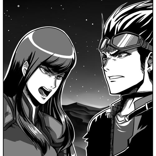 Tesla Novel: Create manga inspired (4) illustrations. Mad Max vs Steampunk vs Cyberpunk