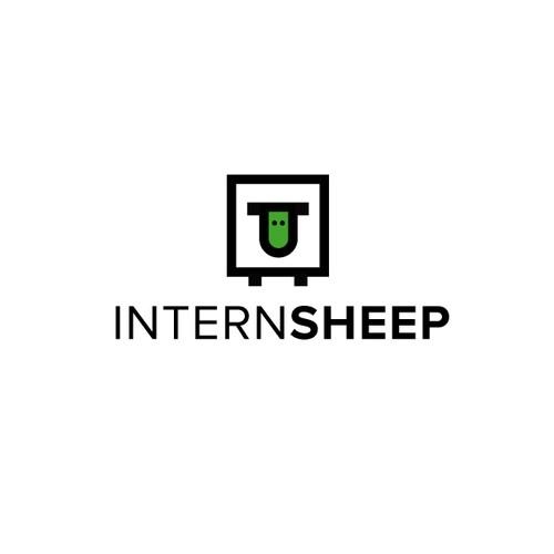 Minimal Geometric Sheep Logo