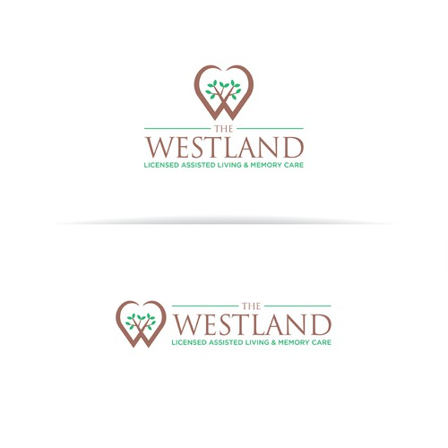 The Westland - elderly care logo design