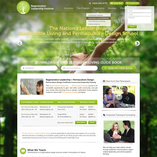 Leadership and Sustainability School needs a new website design