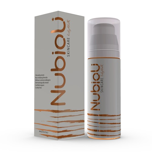 Nubioli Skincare packaging design