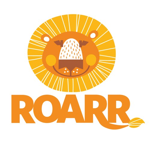 Create a child-friendly lion head for ROARR charity